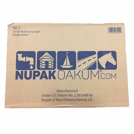 "Nupak Number 5  27"" cut lengths oil treated jute 1 master carton of 10 boxes"