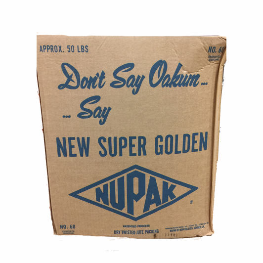 Nupak Number 60 Continuous coil of dry treated jute Approx 100 feet in length