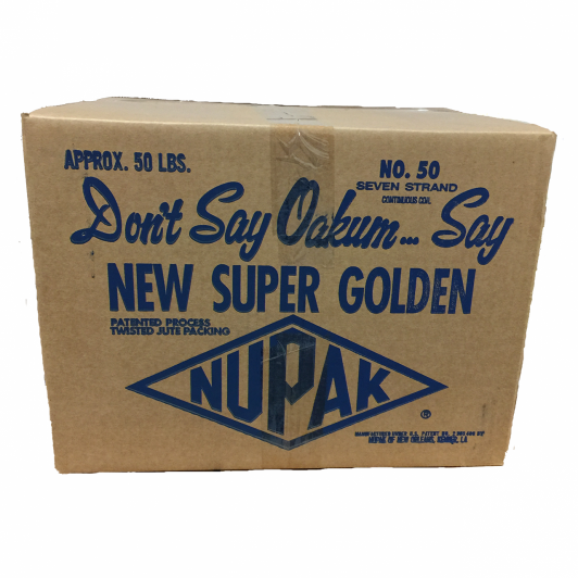 Nupak Number 50 Continuous coil of oil treated jute Approx 50 feet in length